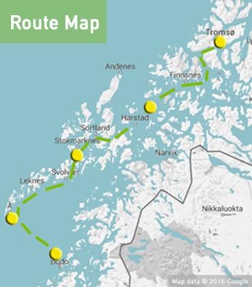 bodo-to-tromso-route-map