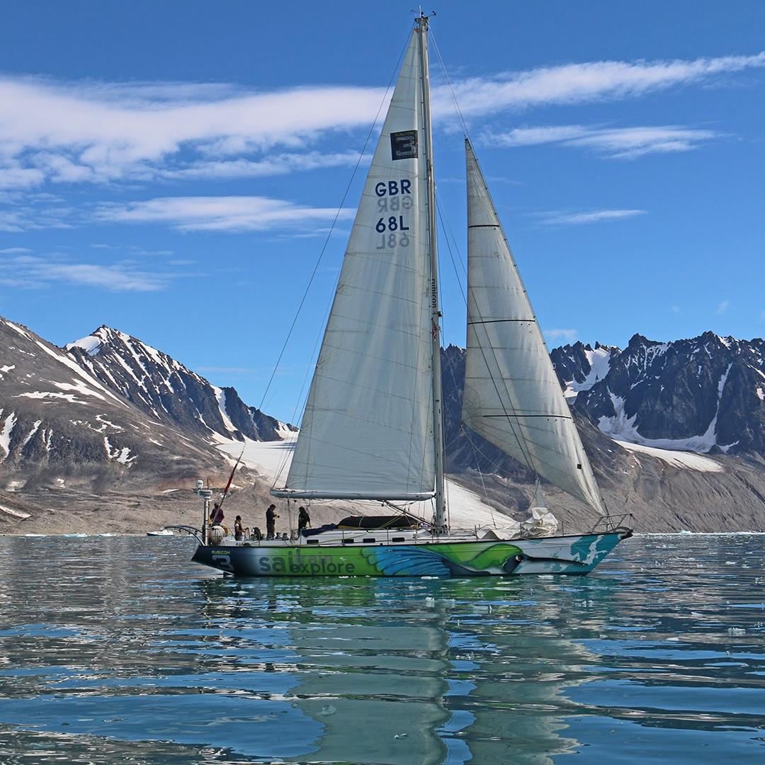 sailing near glaciers