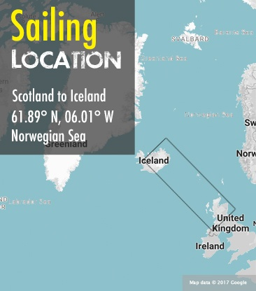 Scotland Iceland area sailing map