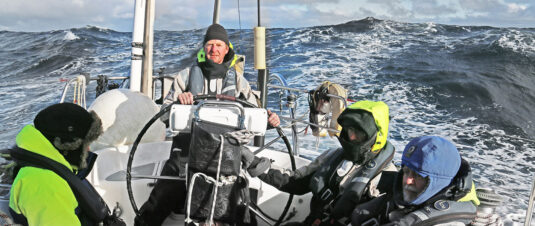 Sailing the Bay of Biscay course