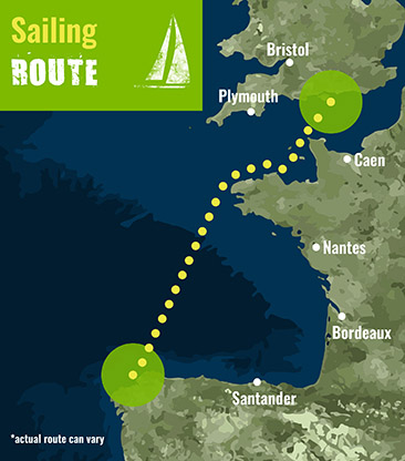 biscay - Sailing Route map 72 dpi