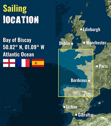 biscay - Sailing area map 72 dpi
