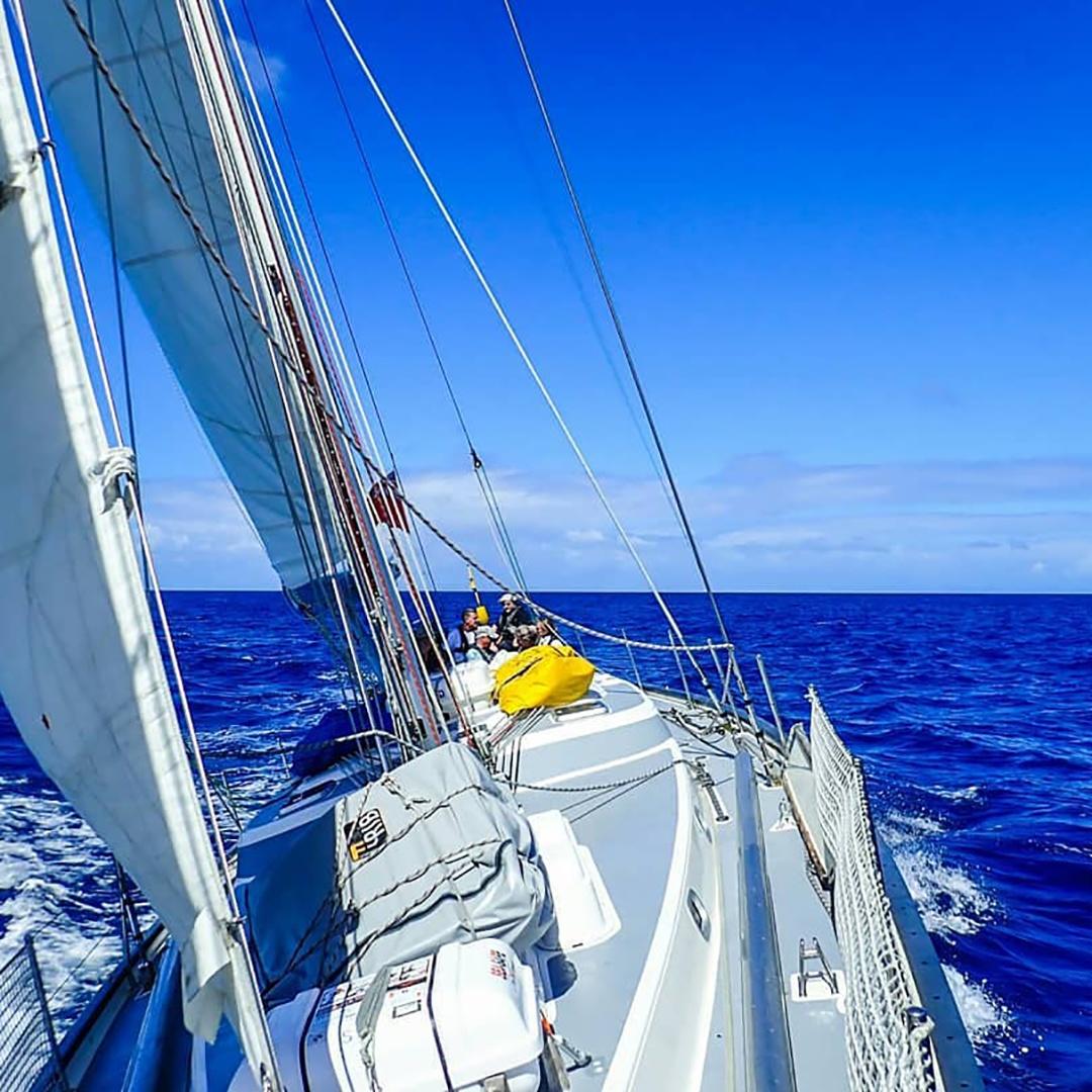 Ocean sailing yacht