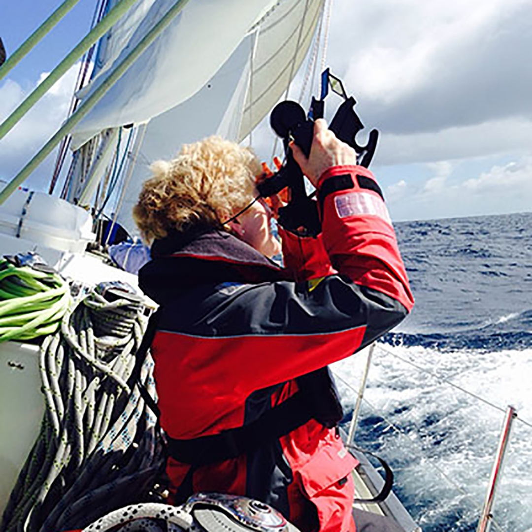 Using sextant at sea