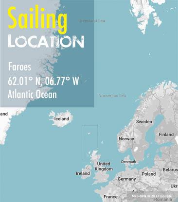 Scotland Faroes area map