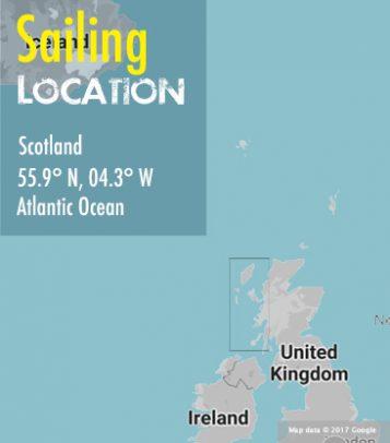 largs to oban scotland sailing area map