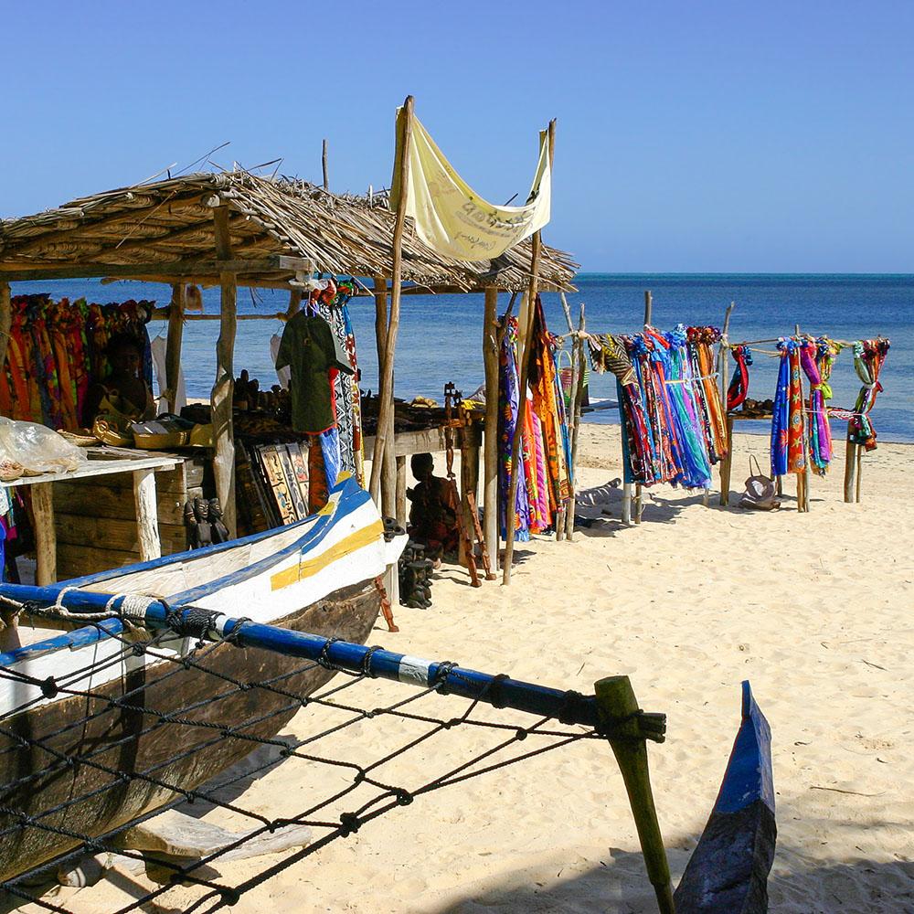 Caribbean beach market