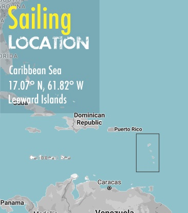 st lucia antigua leeward sailing area map