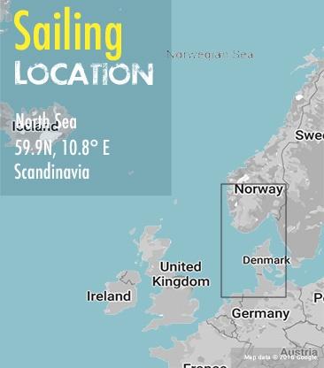 amsterdam to oslo sailing area map