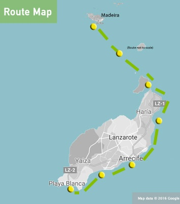 canaries madeira route map sailing