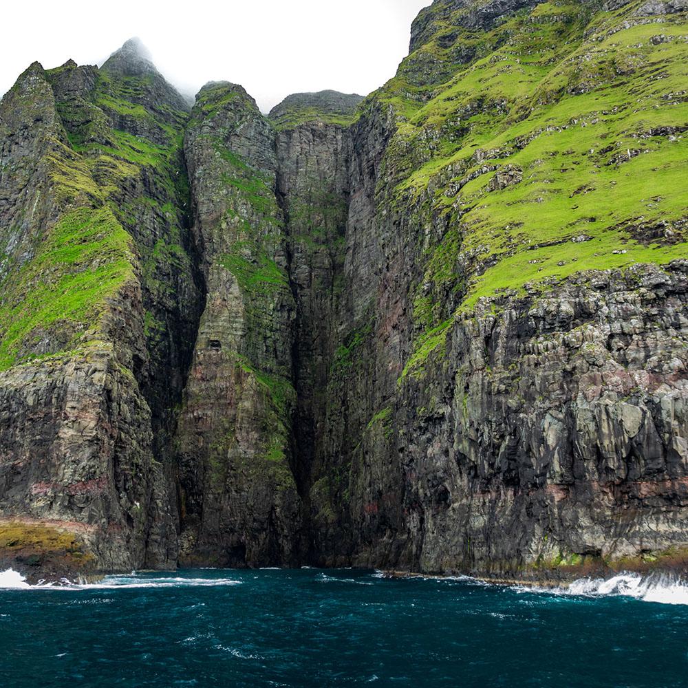 vestmanna sea cliffs