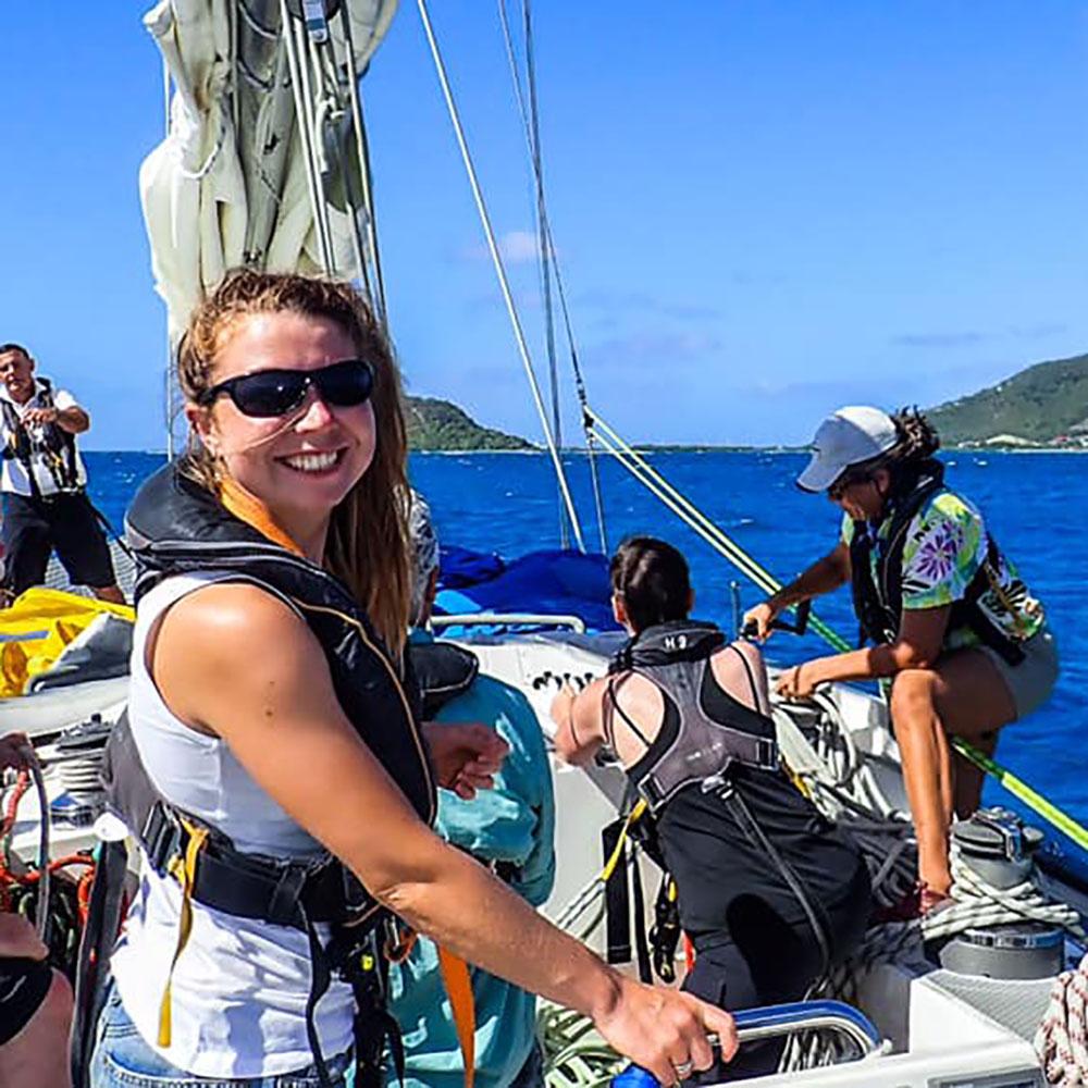 sailing crew on holiday