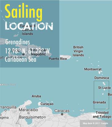 sailing holiday grenadines area map