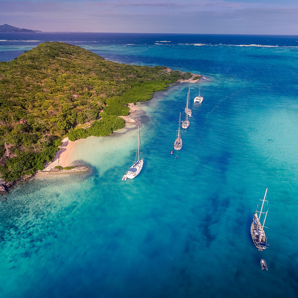 Caribbean sailing tobago cays
