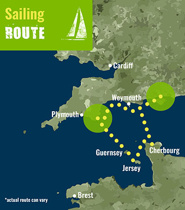 English Channel- Sailing Route 72 dpi