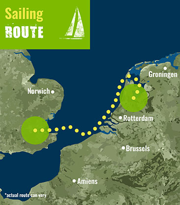 London to Amsterdam- Sailing Route 72 dpi