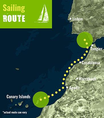 Morocco- Sailing Route 72 dpi