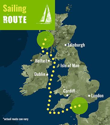 Scotland to Solent- Sailing Route 72 dpi