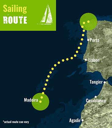 Spain to Madeira- Sailing Route 72 dpi